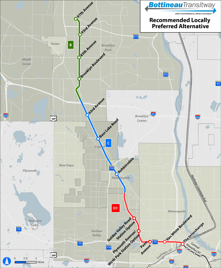 Bottineau Line-Locally Preferred Alternative