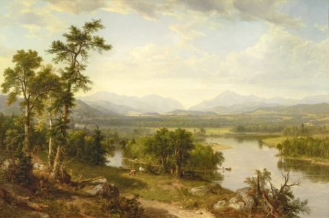 Hudson River School, Asher Durand White, Mountain Scenery